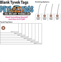 Blank Tyvek Tags - Box of 1000