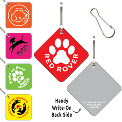 Clip-Its Leash/Collar Tags - Diamond Large