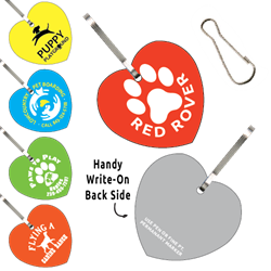 Clip-Its Leash/Collar Tags - Heart Large