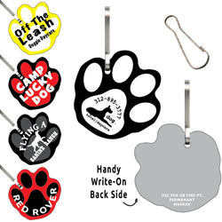 Clip-Its Leash/Collar Tags - Paw Print Large