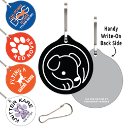 Clip-Its Leash/Collar Tags - Round Large
