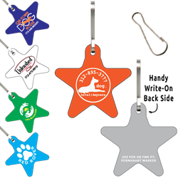 Clip-Its Leash/Collar Tags - Star Large