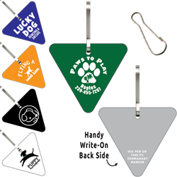 Clip-Its Leash/Collar Tags - Triangle Large Inverted