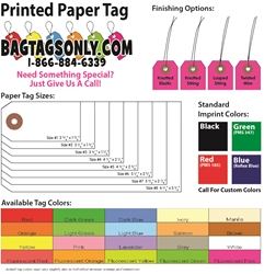 Printed Paper Tags - Box of 1000