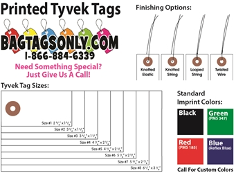 Printed Tyvek Tags - Box of 1000