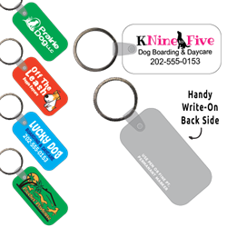Ring-Its Leash/Collar Tags - Rectangle Large w/RC