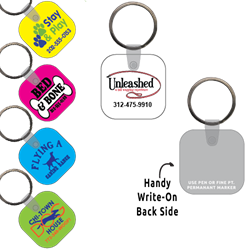 Ring-Its Leash/Collar Tags - Square w/RC