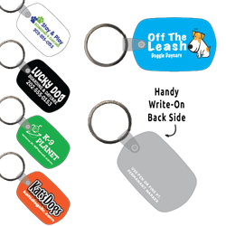 Ring-Its Leash/Collar Tags - Standard Oval